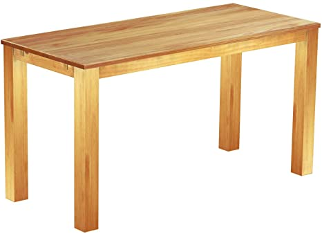 Brasil High Table 'Rio' 208 x 90 cm, Solid Pine Wood, Colour: Honey