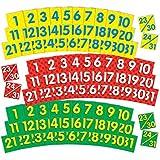 Scholastic Teacher's Friend Calendar Dates (2 colored sets of dates) Pocket Chart Add-ons, Multiple Colors (TF5402)