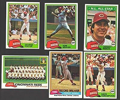 1981 TOPPS - CINCINNATI REDS Team Set
