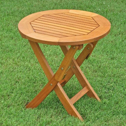 Royal Tahiti 19 in. Folding Patio End Table