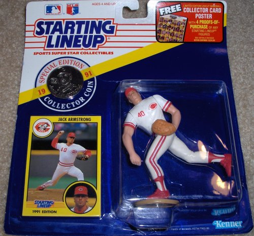 Starting Lineup 1991 Jack Armstrong with Coin - Cincinnati Reds [Toy]