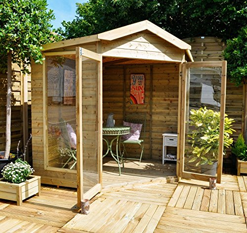 Casitas de madera para ni os for Casas madera ninos jardin