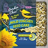 F.M. Brown's Garden Chic Wild Bird Mini Seed Cakes, 10-Ounce, Wild Finch with Peanuts