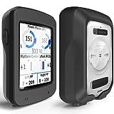TUSITA Case for Garmin Edge Explore 820 - Silicone Protective Cover - GPS Bike Computer Accessories (Black) (Color: Black)