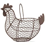 Tag 204829 Farmhouse Chicken Wire Basket, 9.6 x 11.25 x 6.7