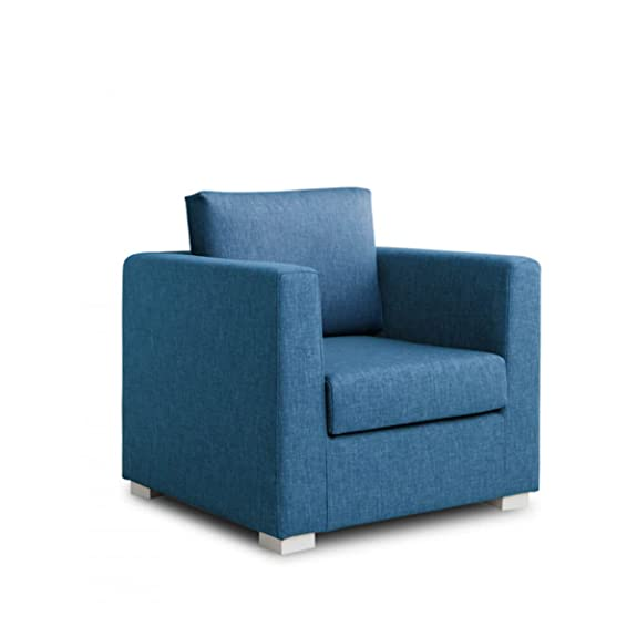 Design Twist Daisy Poltrona, Stoffa, Blu, 90 x 83 x 80 cm