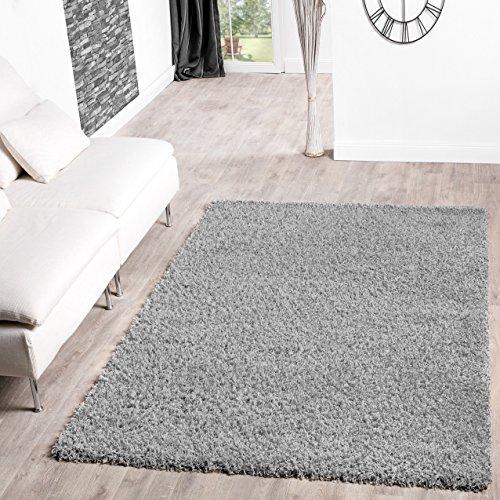 Shaggy-Teppich-Hochflor-Langflor-Teppiche-Wohnzimmer-Preishammer-versch-Farben-FarbegrauGre70x140-cm