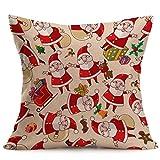 Clearance ! YANG-YI Vintage Christmas Cartoon Smowman Penguin Sofa Bed Home Decoration Pillow Case Cushion Cover (43cm43cm, G)
