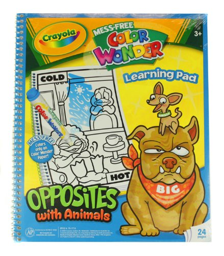 Crayola Mess Free Color Wonder Learning Pad, Opposites With Animals