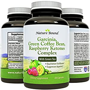 Tri-Blend - Pure Garcinia Cambogia 85% HCA, Green Coffee Bean and Raspberry Ketones Complex- By Nature Bound