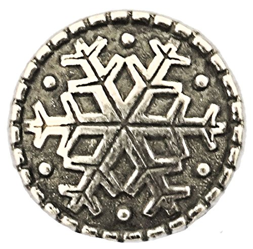 Finse Knap - Pewter Snowflake Button 20MM - 13/16""