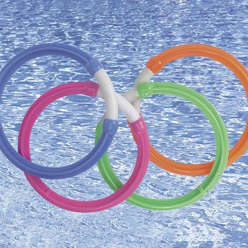 SunSplash 449-2-1104 Four-Colored Swimming Pool Diving Rings Toy Game-2 Pack by SunSplash jetzt bestellen