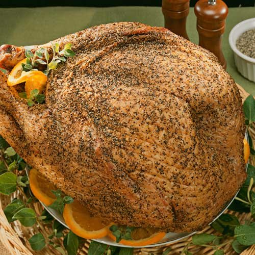 8 - 10 lbs. Pepper Coated Smoked Turkey by Burgers