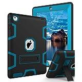 TIANLI iPad 2 Case,iPad 3 Case,iPad 4 Case Three Layer Protection Shockproof Protective with Kickstand iPad 2nd Generation Case/iPad 3rd Generation Case/iPad 4th Generation Case - Black Blue (Color: blue)