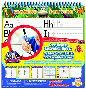 Board Dudes Wire Bound Dry Erase Activity Book - Letters, Numbers, Shapes & Games (11050VA-4)