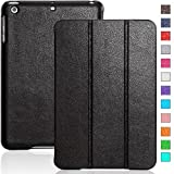 INVELLOP Black Leatherette Case Cover for Apple iPad mini & iPad mini retina display (also known as iPad mini 2 II)