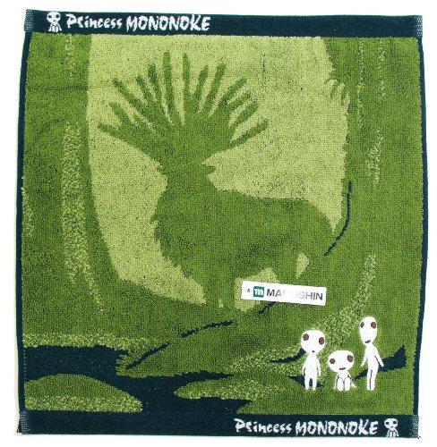 Mononoke Hime wash towel [Kodama N], jacquard and embroidery.