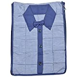 Arihant Collection Cotton 13.97 cms Blue Softsided Shirt Cover