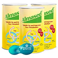 Almased Multi Protein Powder 3-pack (17.6 Ounce Each) with Multi-measure Scoop