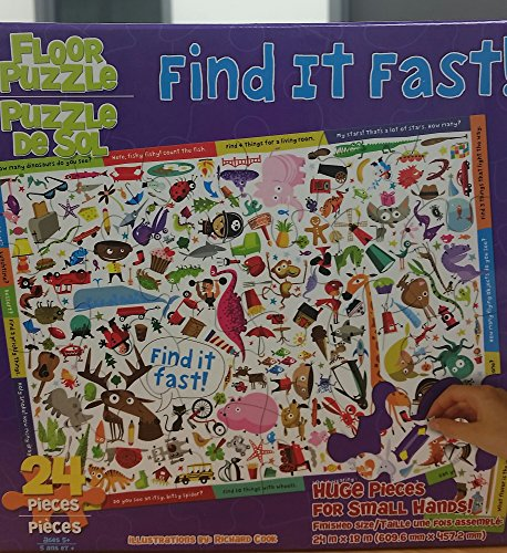 Find it Fast! Floor Puzzle 24 Piece Jigsaw by Richard Cook