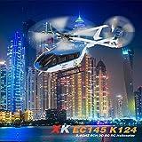 オリジナル XK EC145 K124 2.4G 6CH 3D 6G ブラシレスモーター RC ラジコン ヘリコプター BNF 送信機なし