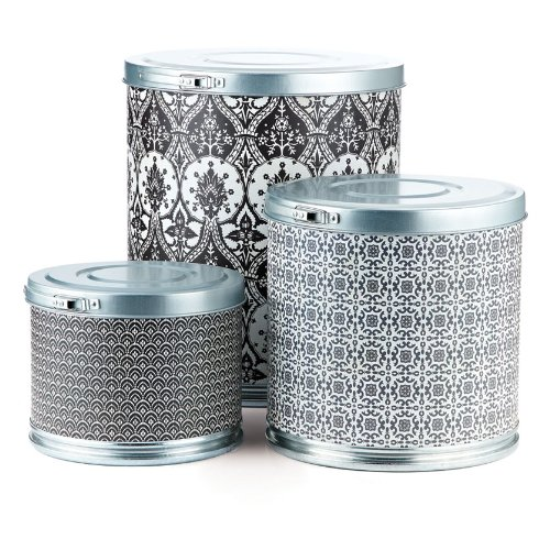BasicGrey Storage Barrels, Black Tie Designer