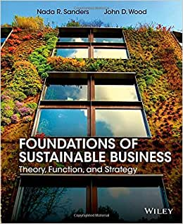 Foundations Of Sustainable Business: Theory, Function, And Strategy