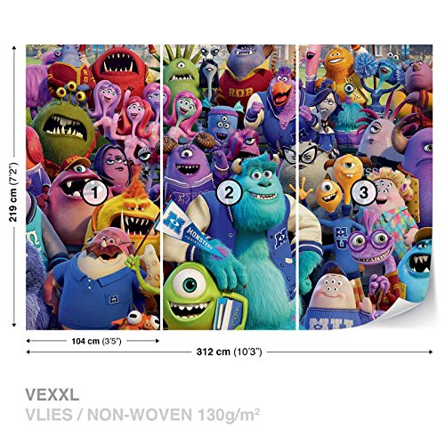 Disney Monsters Inc Wall Mural Photo Wallpaper Room Décor (523WS) (Monsters Inc Wallpaper compare prices)