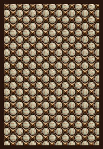 Bases Loaded© Leather Glove Rug Size: 3'10