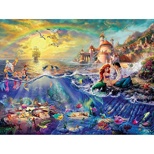 Ceaco Thomas Kinkade The Disney Dreams Collection The Little Mermaid 750 pc. Jigsaw Puzzle - 1