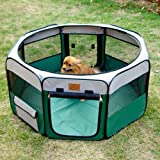 Portable Fabric Puppy and Pet Play Pen - Large