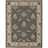 """Nourison India House (IH75) Blue Rectangle Area Rug, 8-Feet by 10-Feet 6-Inches (8' x 10'6"""")"""