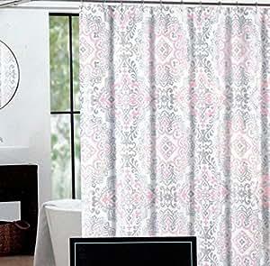 Cynthia Rowley Fabric Shower Curtain Silver