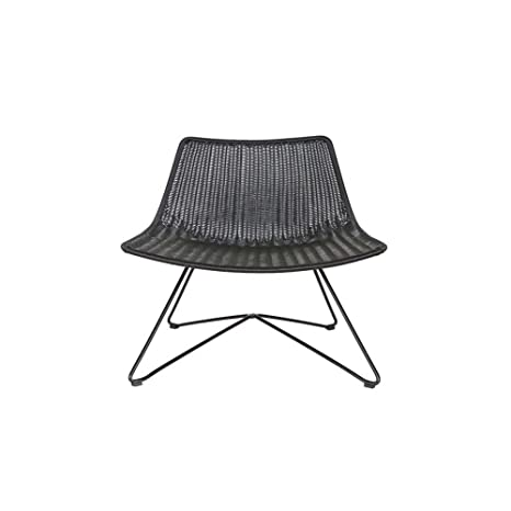 Lounge Sessel OTIS Kunstrattan schwarz Longesessel Esszimmerstuhl Loungestuhl