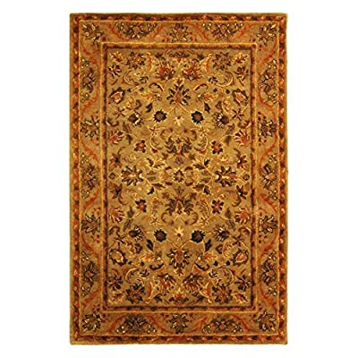 Safavieh Antiquity Collection AT52A Handmade Olive and Gold Wool Area Rug