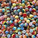 Lot de 100 perles en r�sine acrylique...