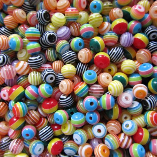- 100 Acrylic Resin Beads Colour Mix 6mm Round By Pretty Pebbles Beads