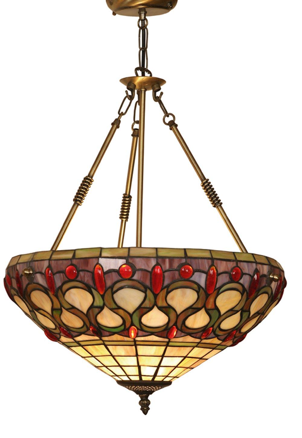 Tiffany-Hängelampe Oberon, Deckenfluter