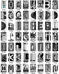 Letter Art – 100 Photo Letters! – Photograph Alphabet A B C- Standard 4×6 – DIY Create a Name/…