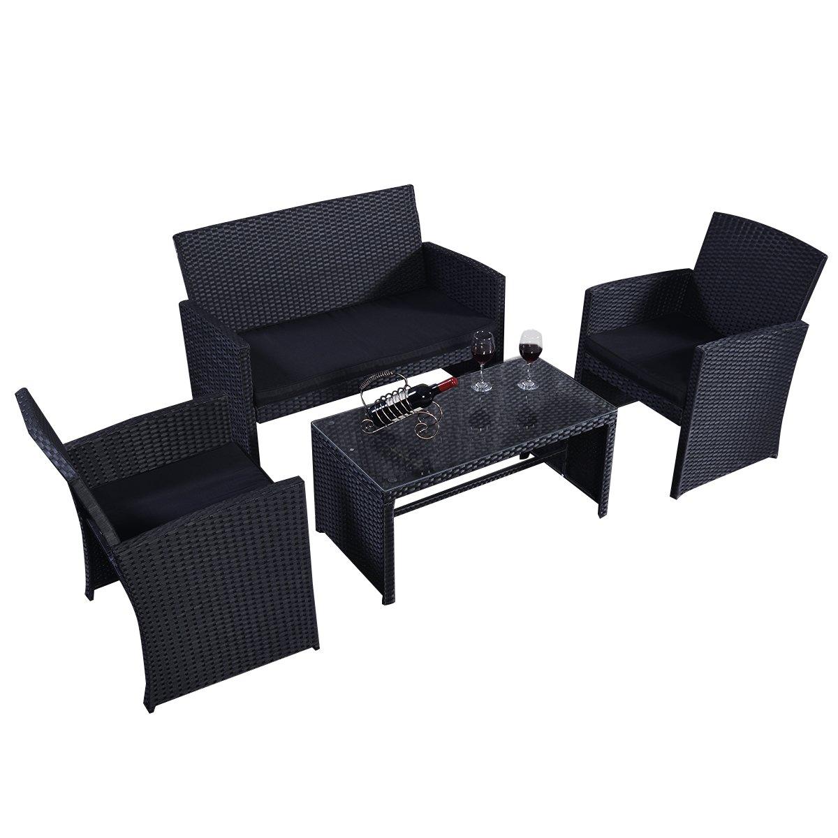Rattan Set Rattanmöbel Gartenmöbel Lounge Polyrattan Sitzgruppe Garnitur Garten