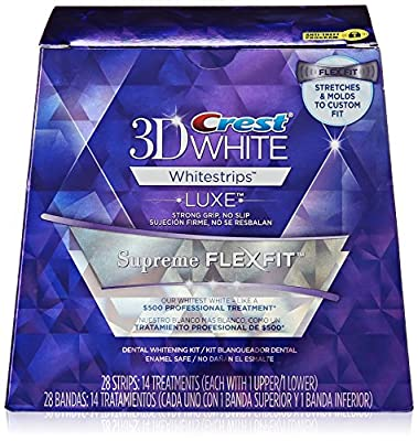 Crest 3D White Luxe Whitestrips Supreme Flexfit Teeth Whitening Kit