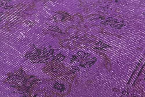 5.5 X 9 Feet Purple Color Vintage Overdyed Handmade Turkish Rug