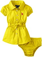U.S. Polo Assn. Baby Girls' Smocked Waist Dress