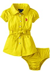 U.S. Polo Assn. Baby Girls' Smocked Waist Dress