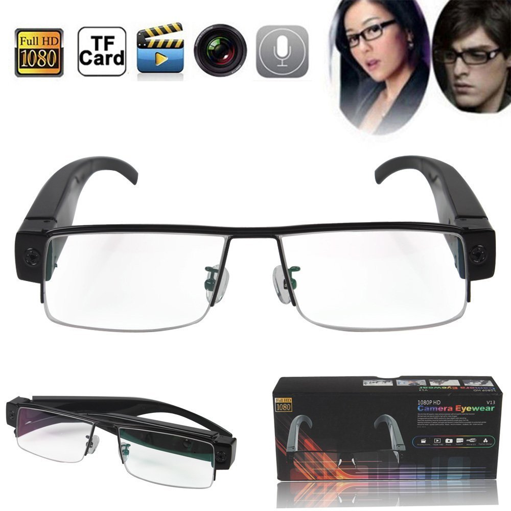 Boriyuan New HD 1920*1080 Spy Camera Glasses 1080Preview and more information