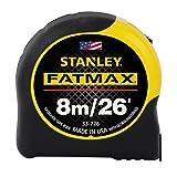 Stanley 33-726 8m/26-Feet by 1-1/4-Inch FatMax Metric/Fractional Tape Rule (Tamaño: 1-(Pack))