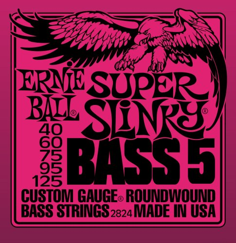 Ernie Ball 2824 Super Slinky 5-String Bass Set