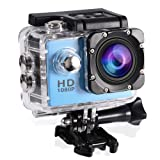fosa Action Camera Waterproof Outdoor Sports Cam with Waterproof Housing Case, Cycling Sports Mini DV Camcorder Build in Rechargeable Batteries with M