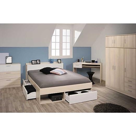 Schlafzimmerset in Weiß Akazie (4-teilig) Liegefläche 160x200 Pharao24