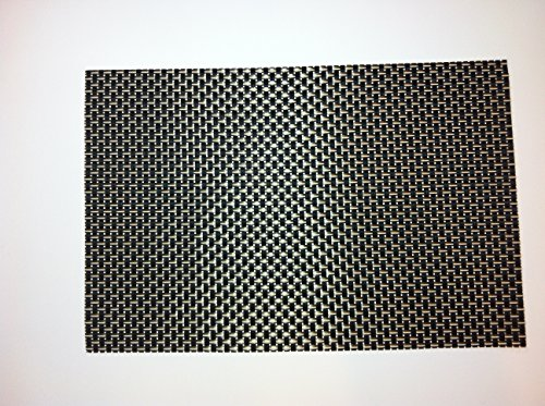 High spirals black table place mats to protect your modern dining room table these placemats - Dining room table mats ...